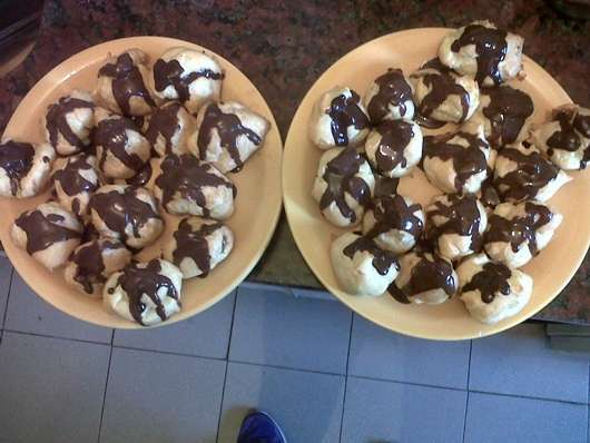 Bombas con chocolate