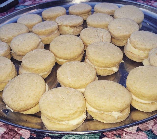 galletitas rellenas de crema de limón