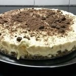 Cheesecake de chocolate y maracuyá