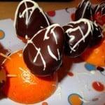 Frutillas con corazón de almendras
