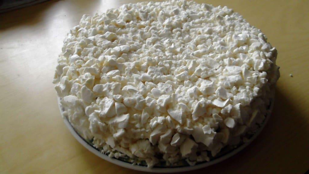 torta durazno y chocolate con merengue