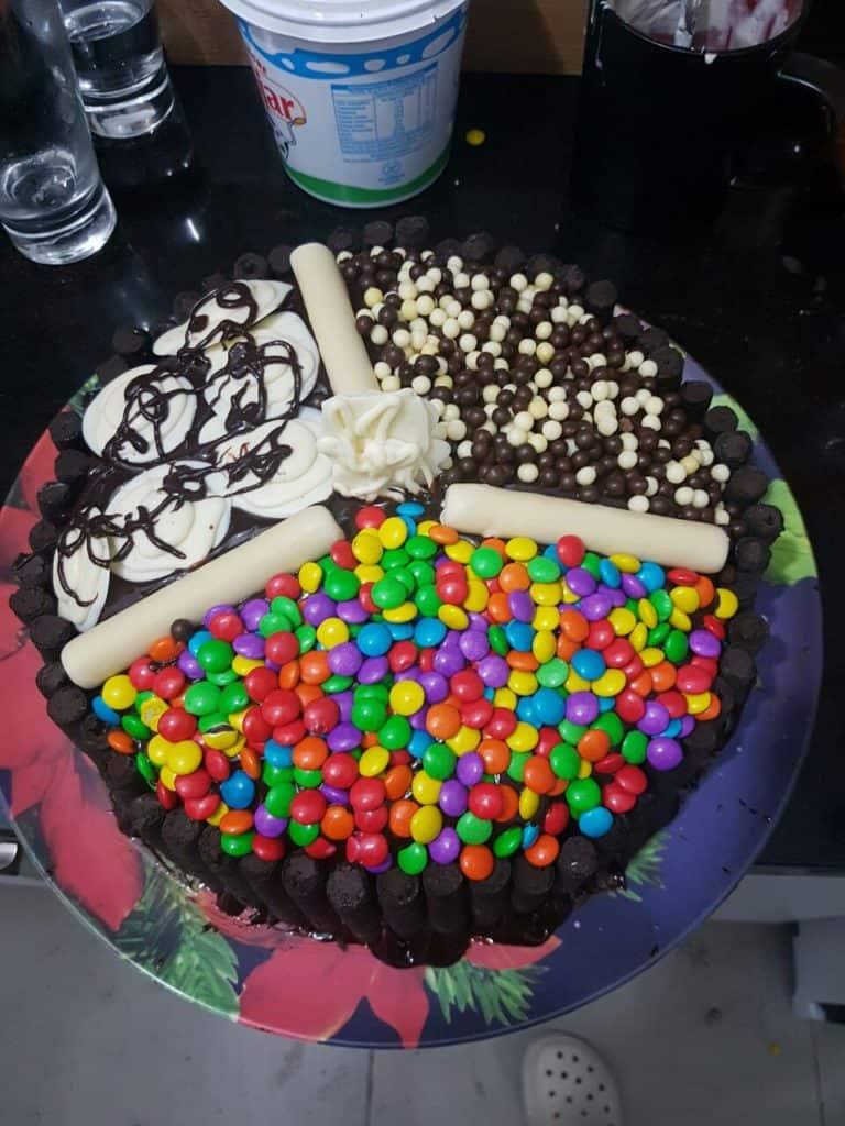 torta candy o torta de dulces
